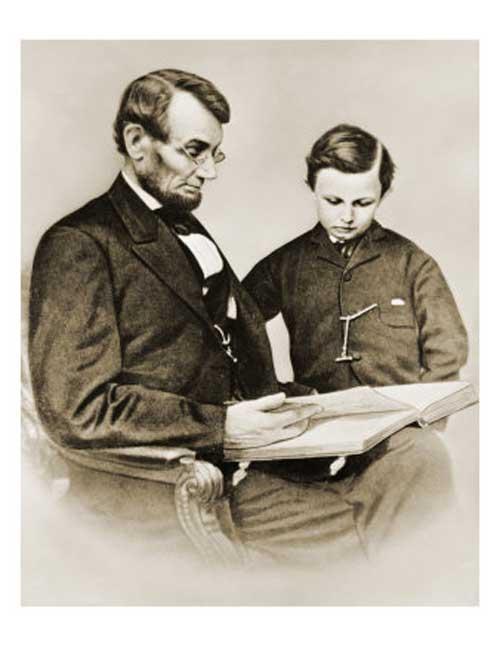 Abraham Lincoln reading book Tad Lincoln www.servetolead.org