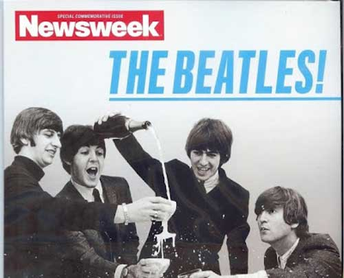 Beatles Newsweek cover commemorative champagne at www.servetolead.org