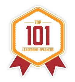 Top 101 Leadership Speakers badge at www.servetolead.org