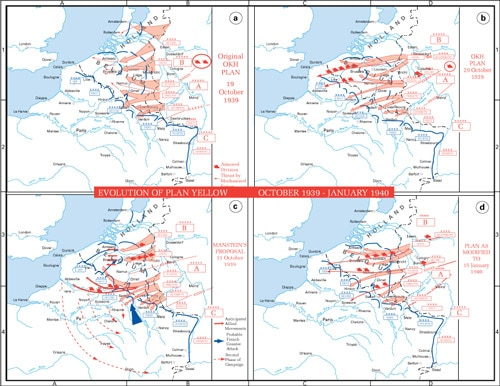 Maps of Case Yellow Nazi Germany Invasion France at www.servetolead.org