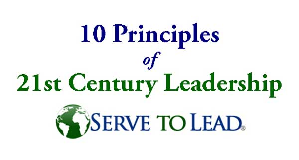 Serve to Lead | 10 Principles of 21st Century Leadership logo at www.servetolead.org