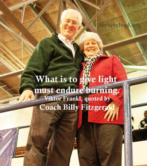 Viktor Frankl quote Coach Billy Fitzgerald www.servetolead.org