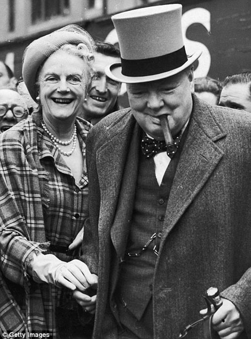 winston and clementine churchill laughing at www.servetolead.org