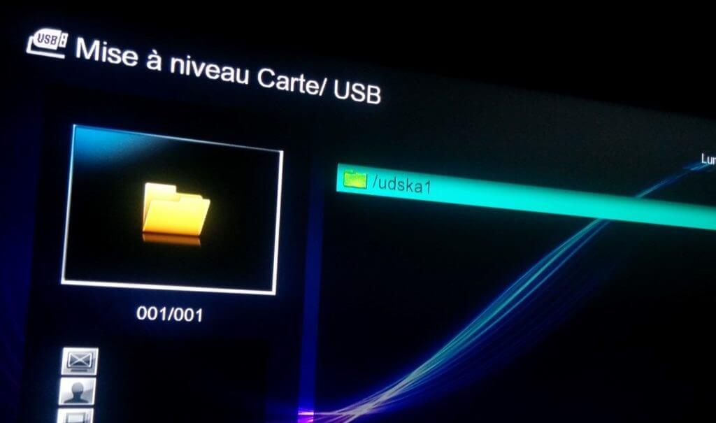 Mise à jour de VISION CLEVER 4 par USB etape 5