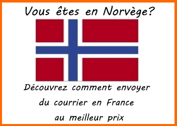 envoi decourrier norvege france