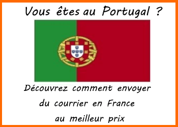 envoi de courrier portugal france