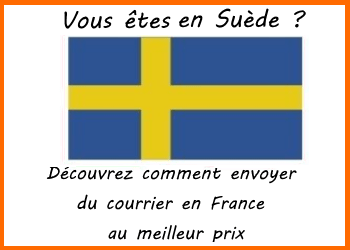 envo de courrier suede france