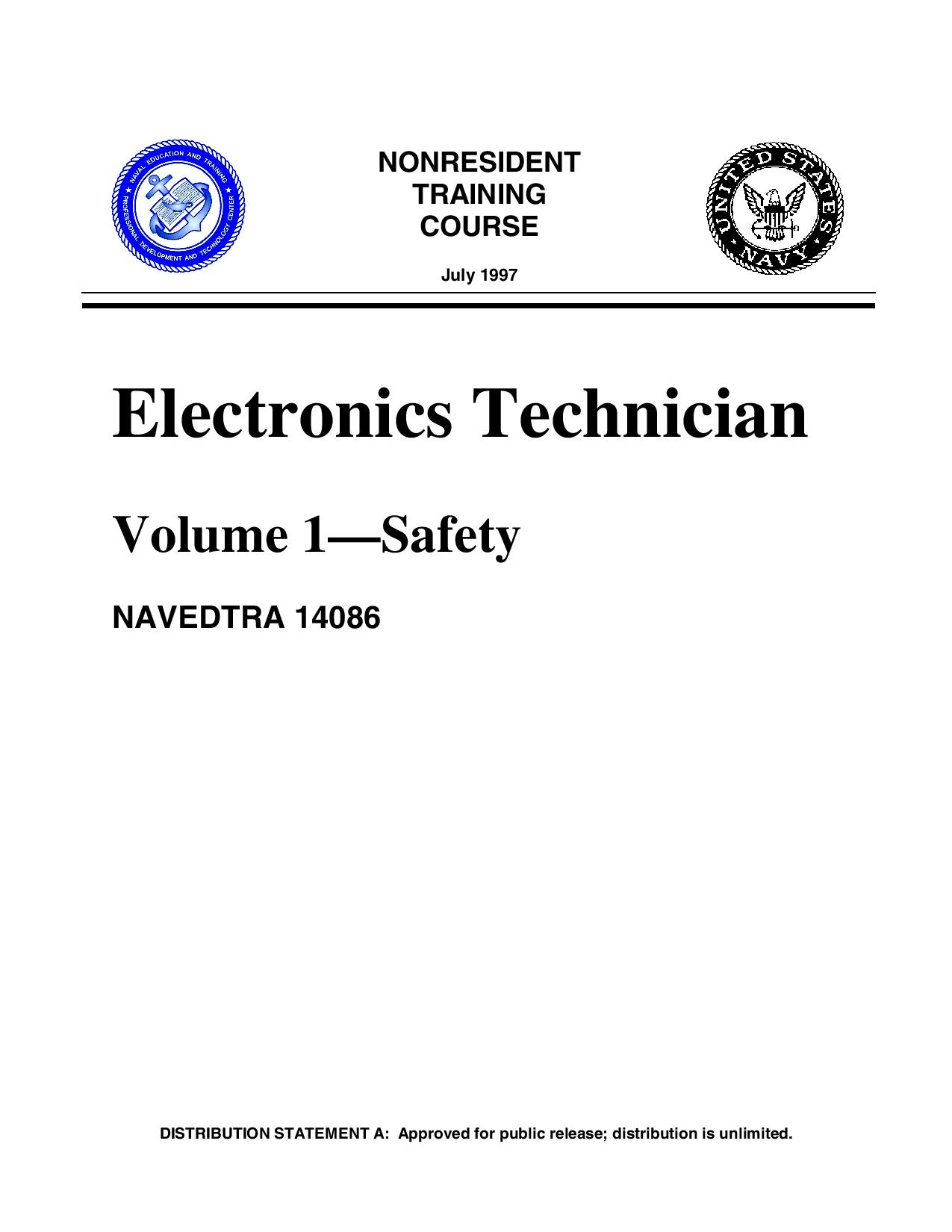 Electronics Technician Volume 1