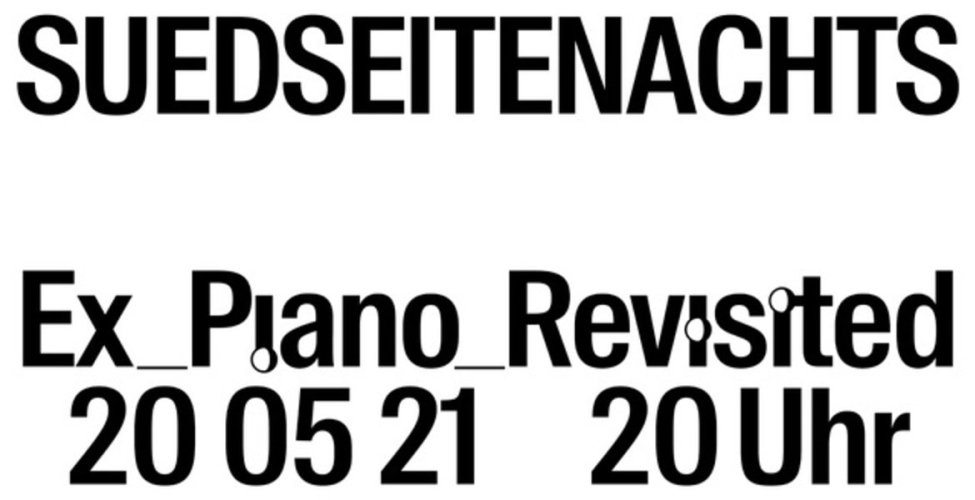 Südseite nachts Ex_Piano_Revisited mit Magdalena Cerezo Falces, Klavier