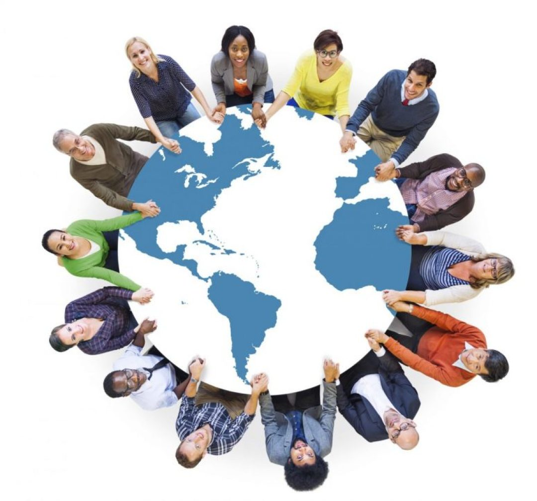 Multiethnic Diverse World People Holding Hands