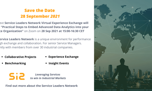 SLN Virtual Experience Exchange: Practical Steps to Embed Data & Analytics into your Service Organisation on 28 Sep 2021