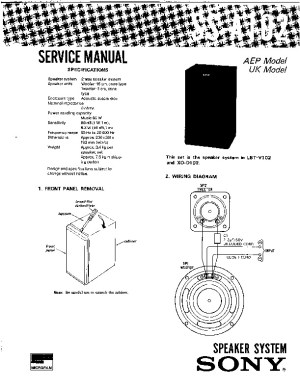 Sony SSA102 Service Manual  FREE DOWNLOAD