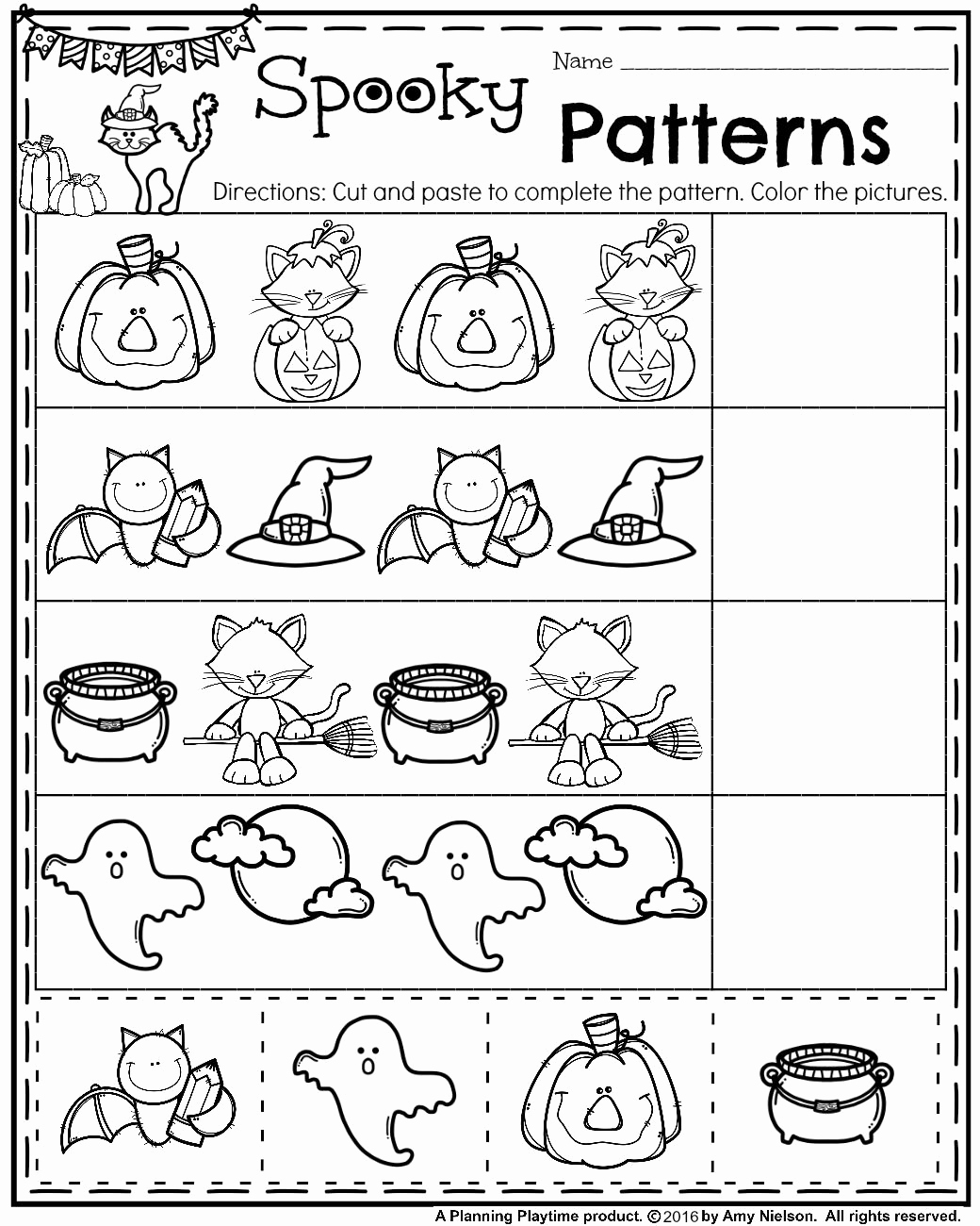 Free Halloween Worksheet For Kindergarten Servicenumber