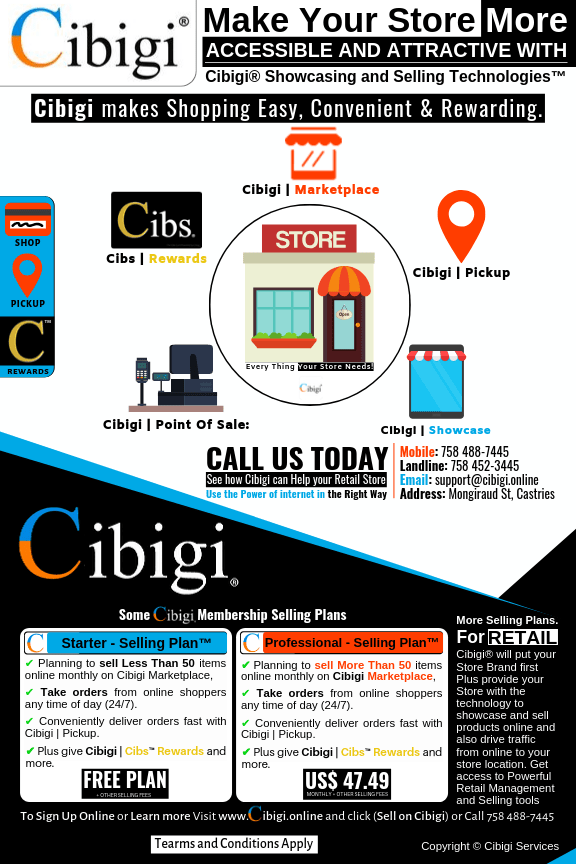 Cibigi makes your store more attractive and accessible with Cibigi® Selling and Showcasing Technologies™ for More People to Easily Shop