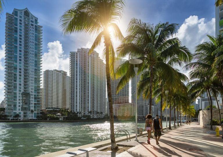 Florida Miami United States sea level climate change
