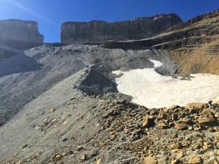 La Brecha de Roland y la morrena del glaciar