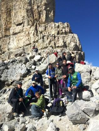 En la Brecha de Roland, 2.804 m.