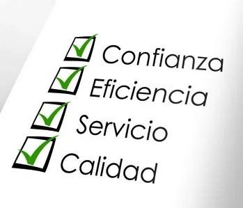 eficiencia confianza calidad