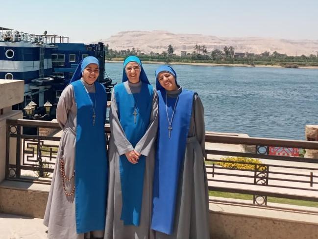 la nueva comunidad a orillas del río Nilo, en la Eparquía de Tebas, Luxor, al sur de Egipto