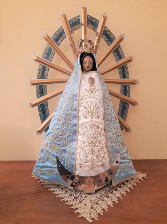 """Imagen de la Virgen de Luján traída a Italia hace 25 años, en el traslado de la Casa Generalicia """"Nuestra Señora de Luján"""""""