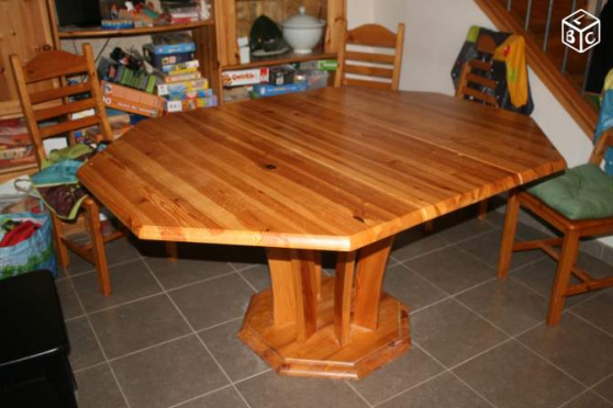 table salle a manger en pin massif