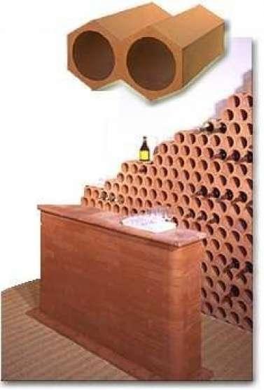 casier a bouteille cave vin terre cuite