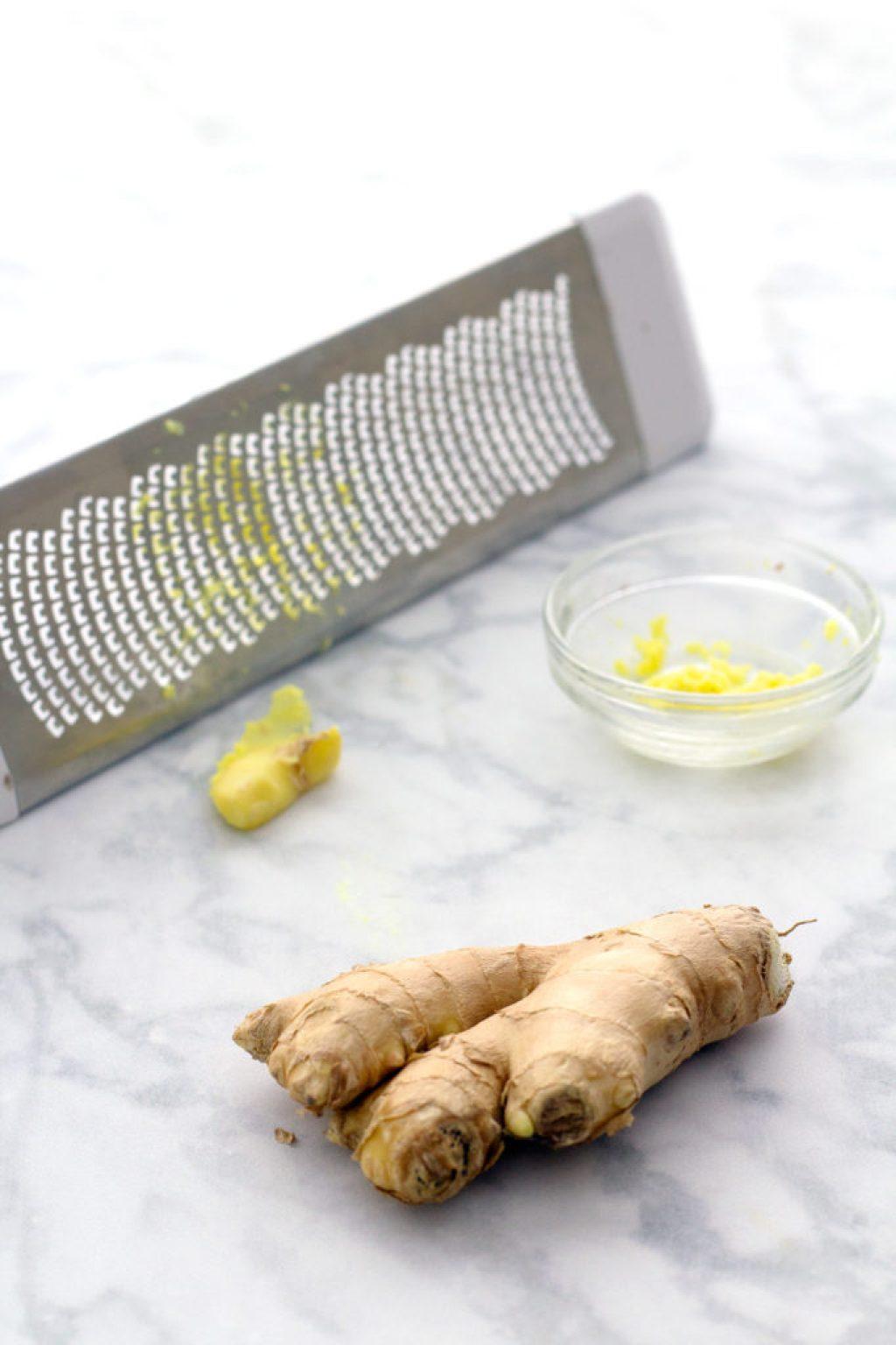 grated ginger for vegan scones recipe