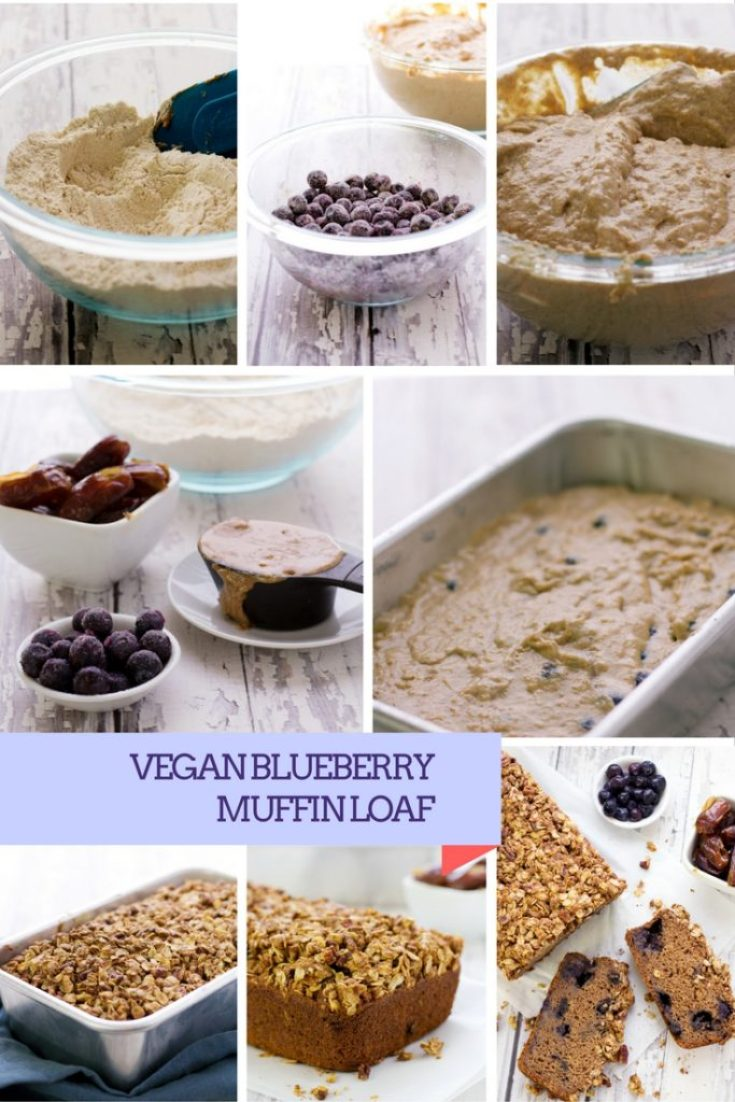 how to make a vegan blueberry muffin loaf with cinnamon streusel