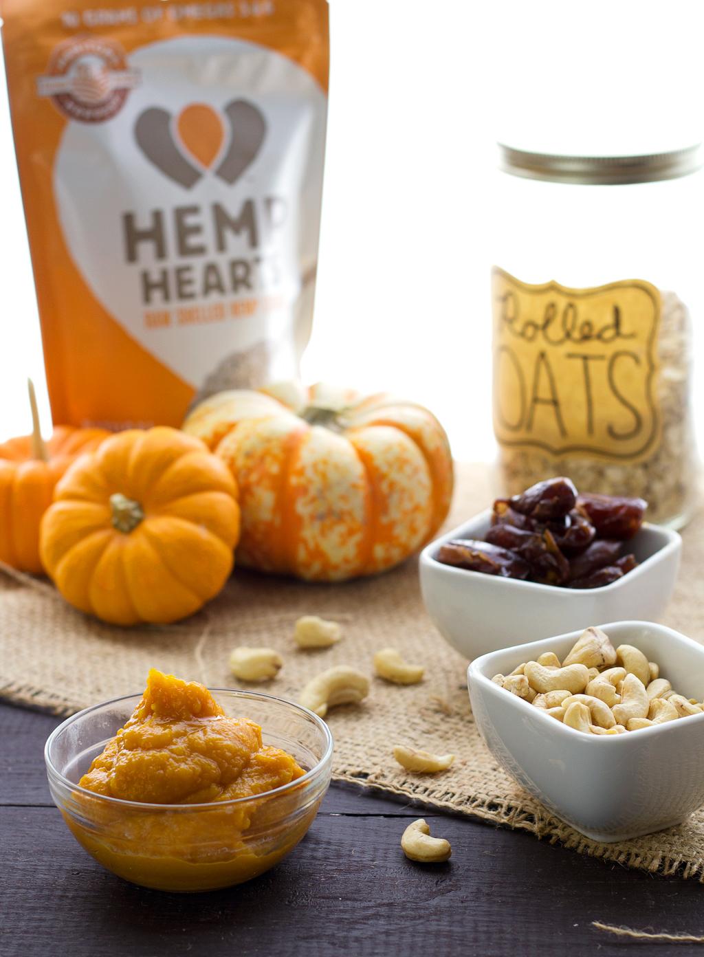 ingredients for vegan pumpkin spice truffles