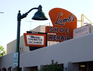 sign in downtown mesa