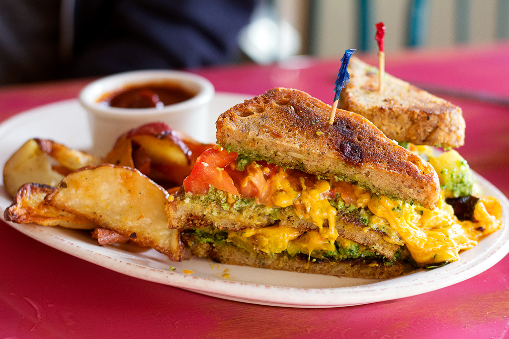pomegranate cafe vegan grilled cheese