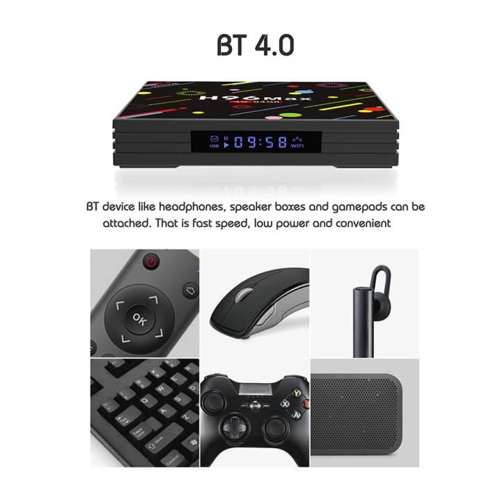 H96 Max Reloaded Top TV Box 2019 Android 8 1 4GB 64GB Dual Wifi VPN + Ad  Blocker