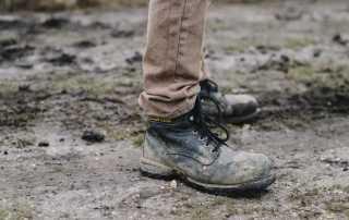 calçado de proteção para montadores de andaimes