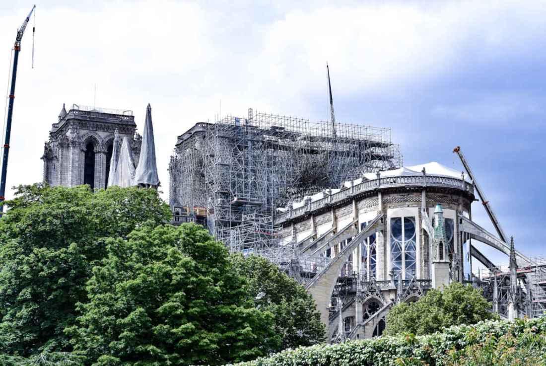Andaimes de Notre-Dame