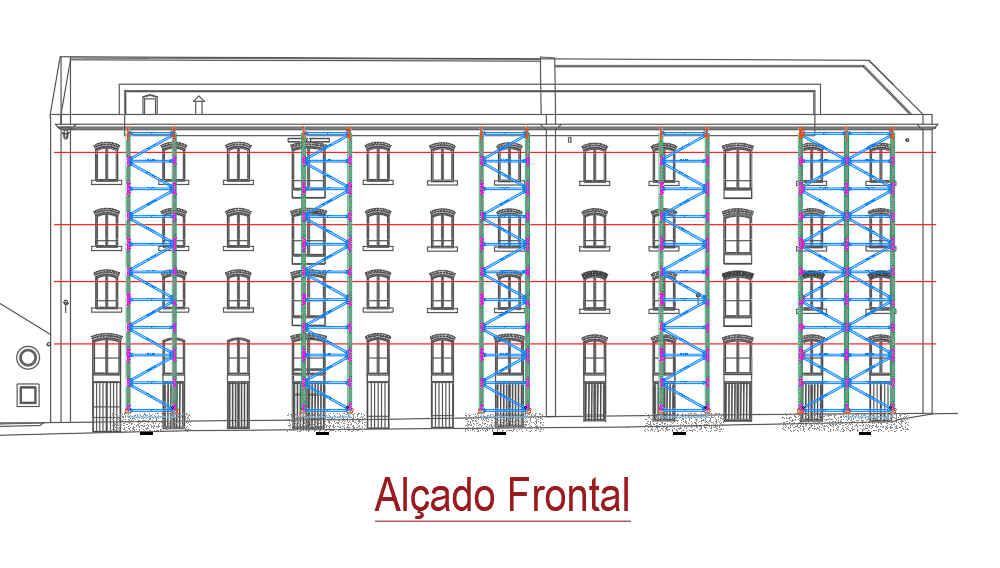 alçado estrutura de engenharia shorflex