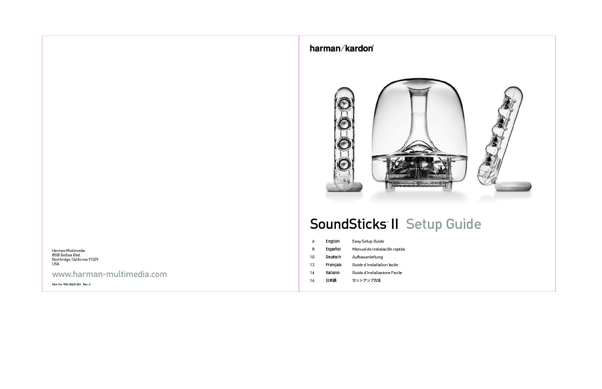 Harman Kardon Soundsticks Iii Servn4 Emc