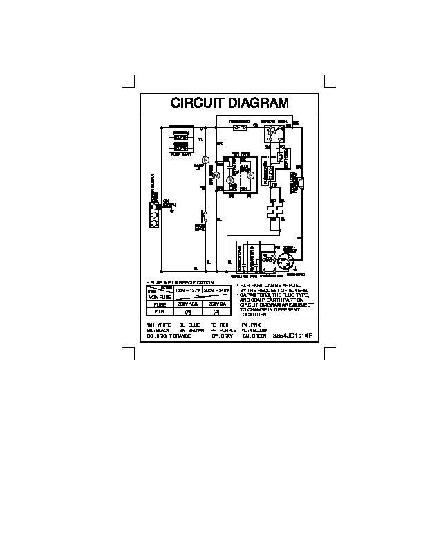 lg frost free refrigerator wiring diagram  5th wheel wire