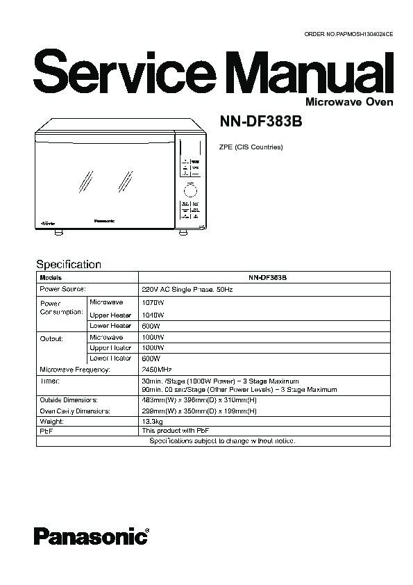 panasonic nn df383bzpe service manual