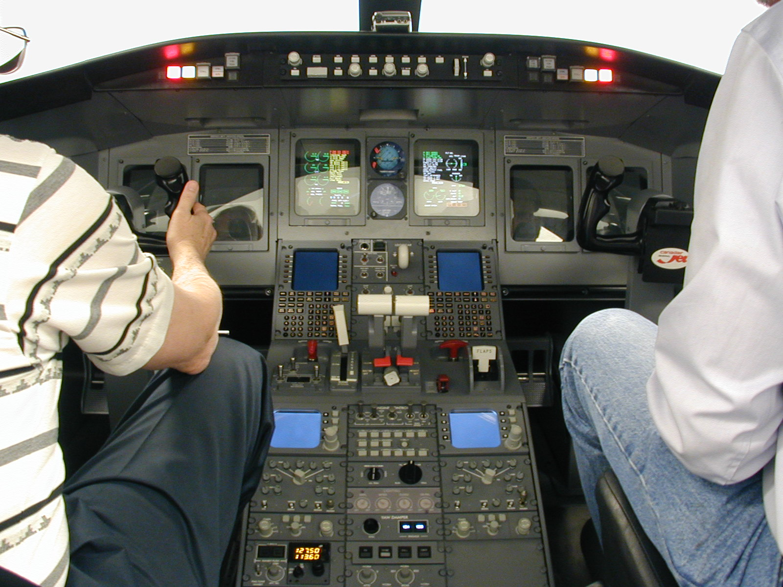 Engineers integrating CRJ-700