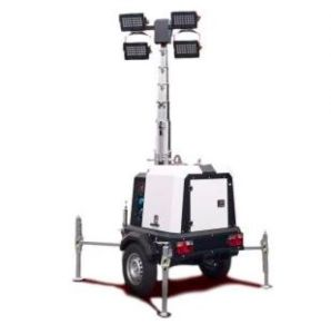 4 light LED Mobile Lighting Tower - Serv Plant Hire