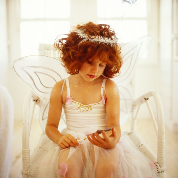 Young Girl (8-10) Dressed in a Fairy Costume