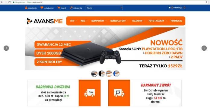 avansme fałszywy sklep online
