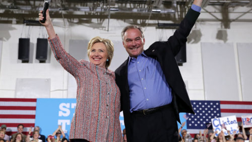 Clinton y Kaine en un evento de campaña en Virginia Alex Wong / Getty Images