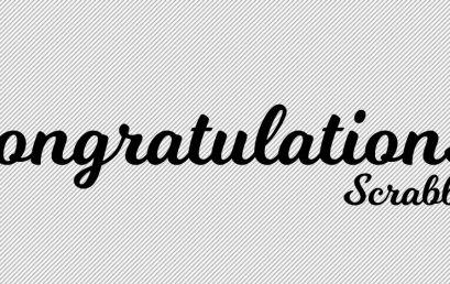 Congratulations/ Scrabble