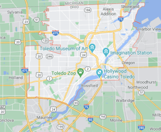 Toledo Oh map - we buy houses Toled OH