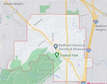 bedford oh map - we buy houses bedford ohio