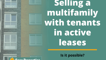 Is selling a multifamily with tenants in active leases possible fb post image