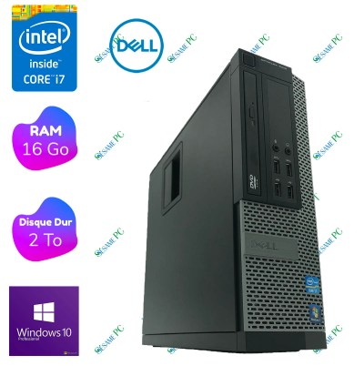 PC Bureau - DELL Optiplex 7010 i7 - 16 Go RAM- 2 To HDD - Windows 10