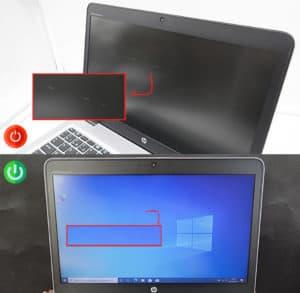 Grade d'usure importante du 840 G3 écran allumé/éteint