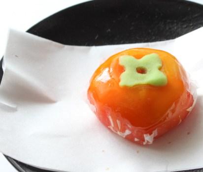 上生菓子「柿」(鹿児島/い志川菓子店)